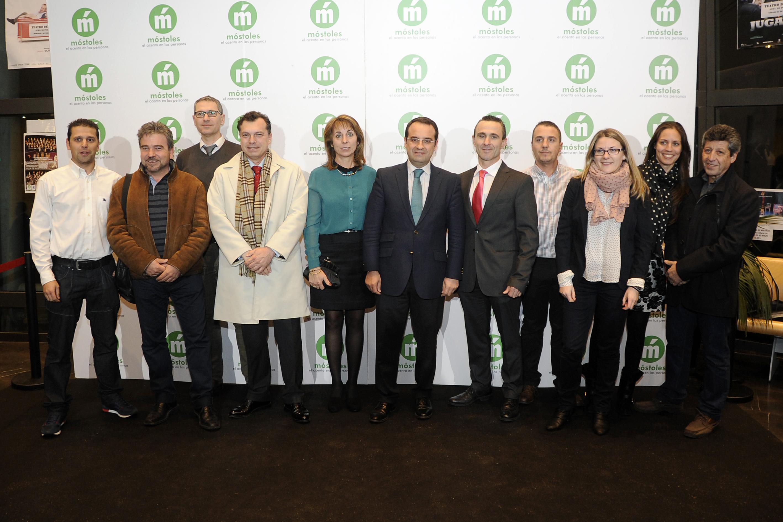 Plantilla de Carsmarobe en los premios Ciudad de Móstoles